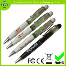 Ballpoint Pen With Floating sand clock Timer,Metal Ball Pen with Sand Clock liquid oil pen