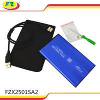2.5 hard disk case / usb2.0 hdd enclosure/ aluminum sata hard drive box
