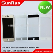 wholesale full screen cover color tempered glass screen protector for iphone6 colorful screen protector