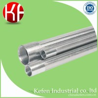 BS4568 rigid galvanized steel anticorrosive zinc plated seamless pipe for protection