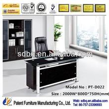 Tempered glass height adjust desk executive table designs PT-D022