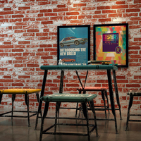 3d brick mural stone pattern wallpapers for hotel wall