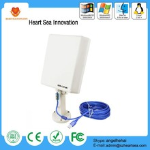 high power 10M cable outdoor wifi antenna 80 dbi USB wireless wifi adapter 802.11b/g/n Adapter