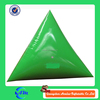 Green color Floating Striking Marker cheap Inflatable Tetrahedron Buoy for sale
