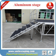 used mobile plywood aluminum stage risers modular stages
