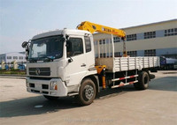 4*2 white color Dongfeng tianjin 6 ton truck cranes for sale