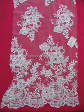 Hot sale high quality tulle lace fabric material for wedding dress in stock