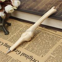 1pc Interesting Lovely Bones Design Ballpoint Pen Blue Ink Ball Pen Novelty Stationery Gift School handling comfortablely