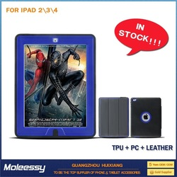 Top quality and cheap leather pouch case for ipad mini for ipad 234