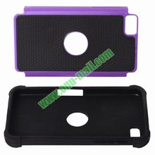 3 in 1 Protective PC + Silicone Front and Back Cover Mobile Phone Case for Blackberry Z20 Z10