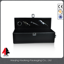Best price oem custom leather wine carrier