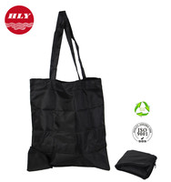 210D Wholesale Recyclable Cheap Foldable Zipper Tote Bag