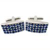 Novelty gift cheap luxury silver cufflinks blank sterling silver