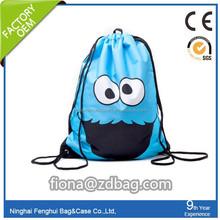 cartoon hot sell 210D polyester sport water proof drawstring bag