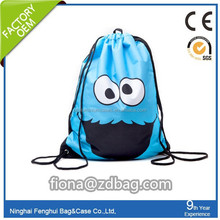 customized high quality polyester drawstring bags / christmas drawstring gift bags / waterproof drawstring bag