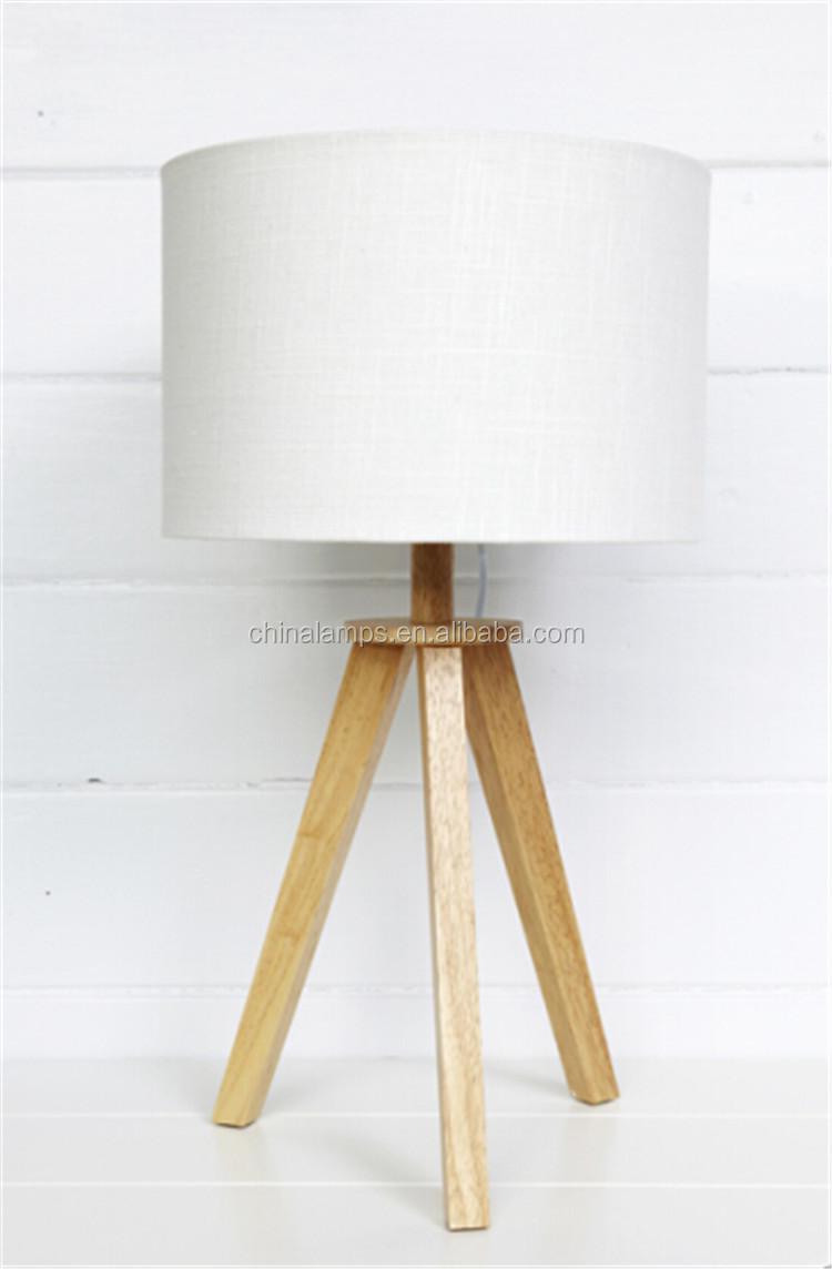 Geel speciale ontwerp houten statief tafellamp massaproductie ...