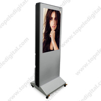 37 inch 1000 nits high brightness sunlight readable lcd monitor outdoor, bus station lcd advertising player