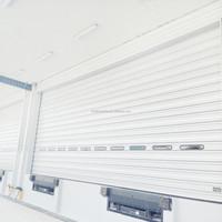 Single panel overhead sectional door large door opening