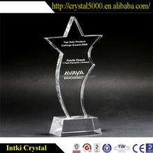 hot-selling crystal trophy award stand/k9 crystal