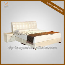 Luxury White King Size Leather Bed