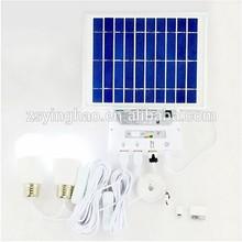 Toda la casa de ventas / camping de seguridad portátil de energía solar power bank kit sistema de interior o exterior YH1002H