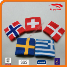 Cheer for your National team - jacquard country flag cotton wristband