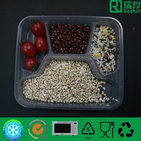 Four Compartment Take out Food Container/Microwave Plastic Food Tray