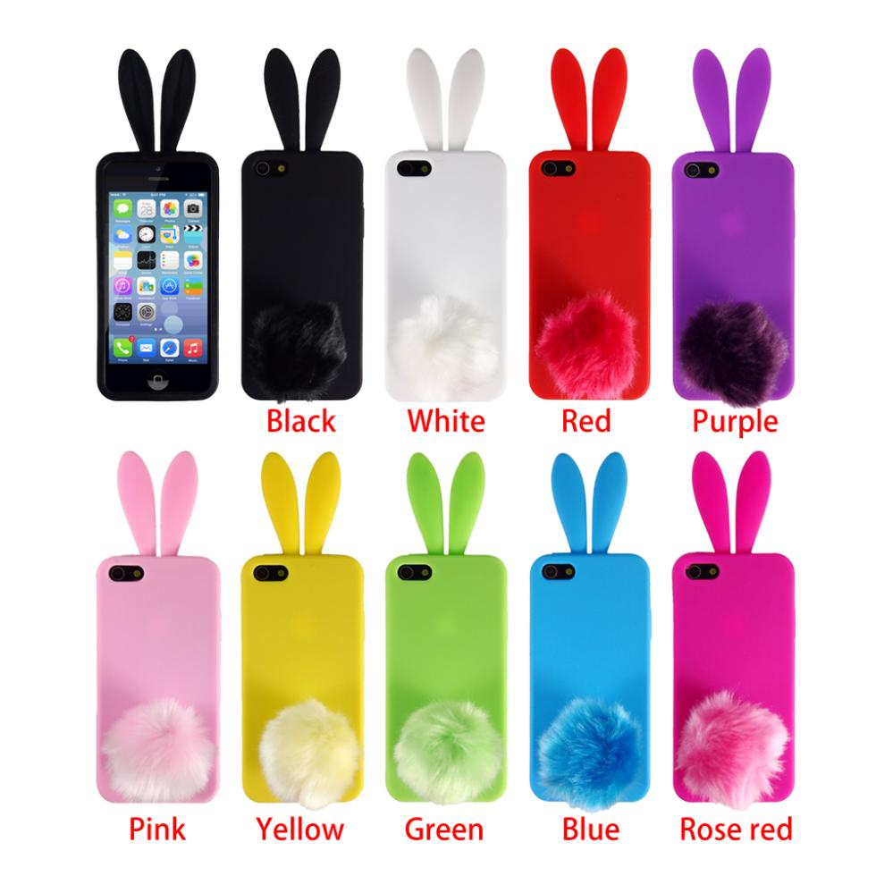 Wholesale fashion design silicone rubber lovely bunny for Case 3d online