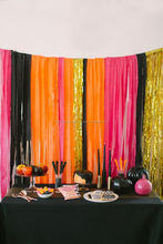 Inspired Halloween Party Decorations Crepe Paper Streamers Paper Crepe Streamers Garland Bunting Paper Garland BANNER BUNTING
