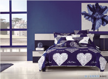 100% Cotton Reactive Print Bedding Set with Quilt Cover Bed Sheet and Pillowcases