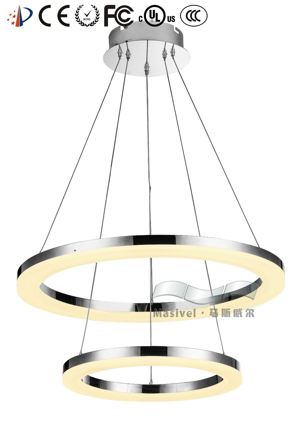 Modern Chandelier Ring Led Light Pendant Lamps And