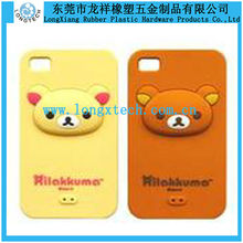 bear shape silicone mobile phone case,3D silicone phone case