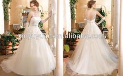 KS-023 Sheer top sequence beads fancy bridal dresses ball gown pakistani bridal wedding dress 2014