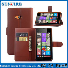 Leather flip cover for lumia 540, for microsoft lumia 540 case, flip cover case for microsoft lumia 540 dual