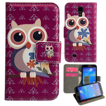 2015 New Fashion Owl Painting Flip PU Leather Case For Samsung Galaxy S6 Edge G9250 Cover Cell Phone Bag Card Wallet Bag Stand