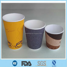 12oz ripple paper insulated coffee cups,wholesale coffee paper cups,double wall paper cups for coffee