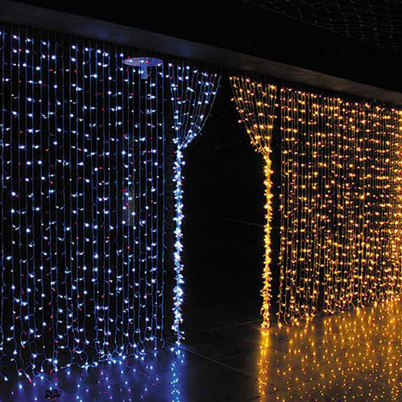 Curtain Wall Lighting : Christmas wedding decoration connectable copper wire led