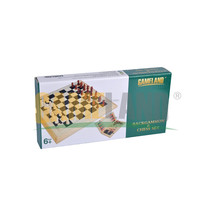 BACKGAMMON & CHESS SET Wooden Game Set in Wooden Box