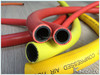 SBR yellow flexible gas hose used in gas delivery