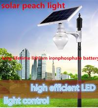 2015 newest all in one solar LED street light all in one led garden ball light