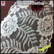 polyester spandex white french wedding decorative fabric trim