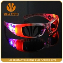 Novelty Kids Party Decoration LED Flashing Sunglasses,Kids Party Favor Lighted Up Sunglasses