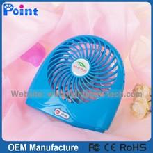 Support usb charging & AA battery power supply mini dest fan five colors portable mini fan