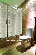 Mesh Image Decorative Acrylic Shower Doors