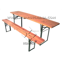 Wooden Folding Beer Table Set Beer Table and Bench Wood Garden Patio Outdoor table set