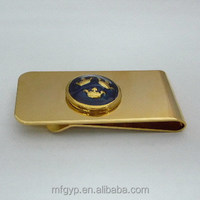Arts and crafts stainless steel custom plated gold money clip