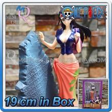 MINI QUTE 19 cm pirate Japanese anime one piece action figure Nico Robin brinquedos boys in box NO.MQ 094