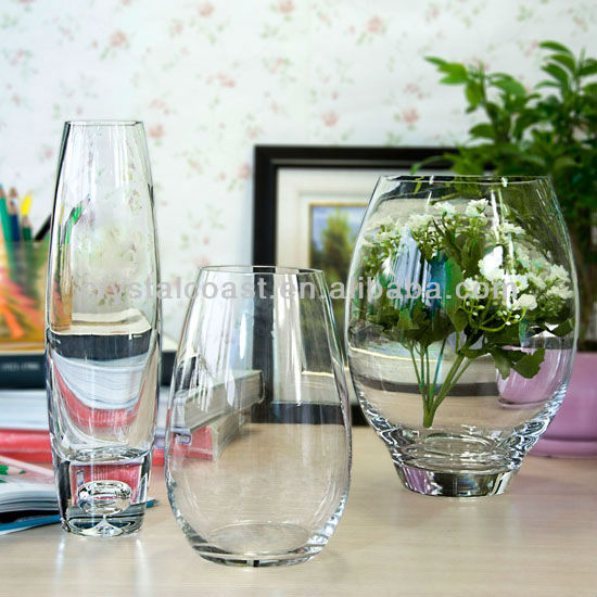 clear glass hanging flower vase cheap; tall round clear glass vases; cylinder glass floor vase wholesale centerpieces