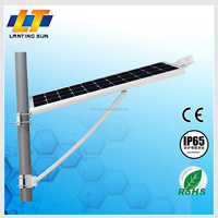 2015 new products adjustable outdoor lighting solar panel led street light 20w 30w 40w integrated street solar light