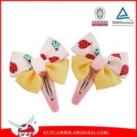 Cute Kids Hair Accessories Grosgrain Ribbon Boutique Hair Bows With Clip Hairpins